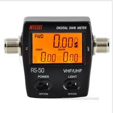 Hot Sale Digital SWR/Watt Meter NISSEI RS-50 RS50Power Meter 125-525MHz 120W UHF/VHF M Type Connector for 2-way Radio