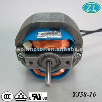 Yj58 fan motor electric motor small ac motor buy 220v ac for Small ac electric motor
