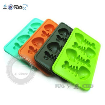 Hot sale cheap fish shape silicone ice cube tray