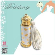 Gold love pattern white anointing oil spikenard perfume bottle