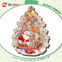 Hot sell gold foil Merry christmas tree sticker wallpaper decoration
