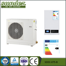 Air source evi DC inverter heatpump heating/cooling air cooled heat pump 20 kw