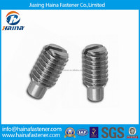 DIN417 M4 Stainless Steel Slotted Set Screws with Long Dog Point