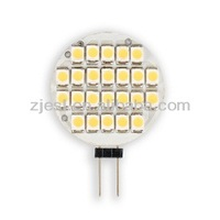 Alum. Housing 24pcs 3528 SMD 1.4W LED Lamp g4 led