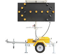 12V Solar Powered Flashing LED Light Traffic Road Arrow Sign Traffic Warning Arrow Board Trailer
