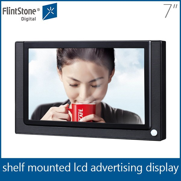 Retail 7 inch video displays, small advertising screen, indoor 7 advertising screen,