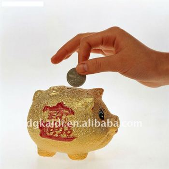 Lifelike hot sale OEM promotion gift plastic PVC fortune pig coin bank