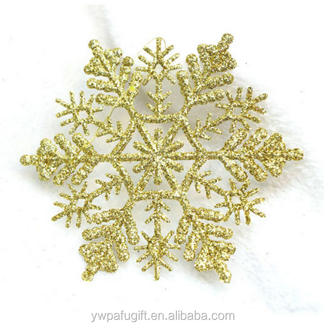 christmas hanging ornaments plastic glitter snowflake