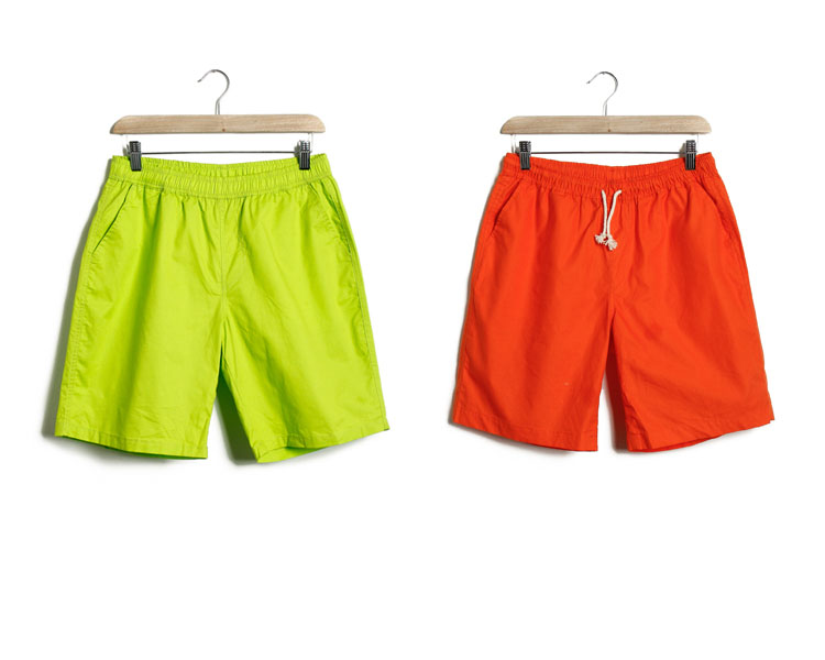 Fashion design Short Pants hot sale new style fluorescent color Man Shorts 100% cotton hot pants
