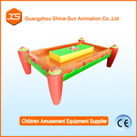 Sand castle maker garden sand play table for disney theme park with red magic sand or other colors and molds