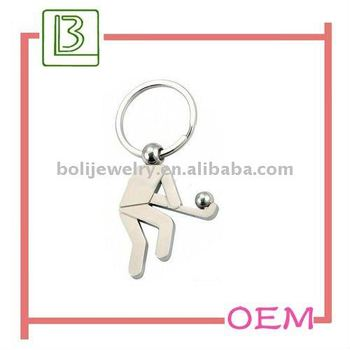 2011 Fashion Hockey Shaped Keychain