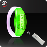 2016 New Craft Party Decoration LED Radio Controlled Led Wristband