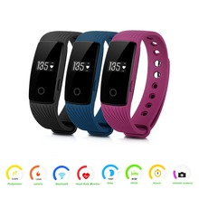 ID107 Heart Rate Smart Bracelet Watch Heart Rate Monitor Smart Band Wireless Fitness Tracker Wristband for Android iOS