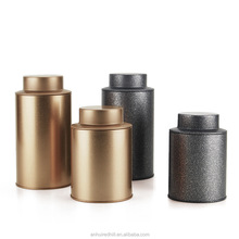 R1978H 250G Retro style tin tea packaging containers tea can