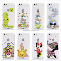 "2015 New Arrive 8 style For Apple Iphone 6 4.7"" Case Transparent Cartoon Duck Mickey Minnie Snow White Cell Phone Cases Covers"