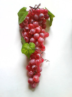 2014 New Artificial Christmas Red Grapes Artificial Fruit with leaf
