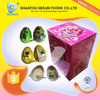 Attractive cartoon Surprise big egg shaped chocolate, biscuit chocolate egg with toy