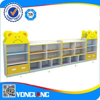 Latest kindergarten kids toy storage cabinet set, kids furniture (Bear-shaped No.YL-FW0013)