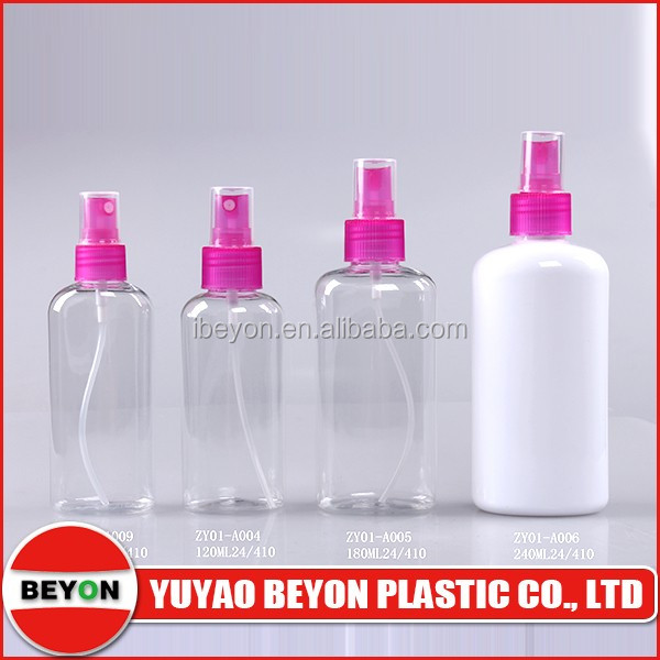 240ml plastic bottle high quality oval recycled spray bottles