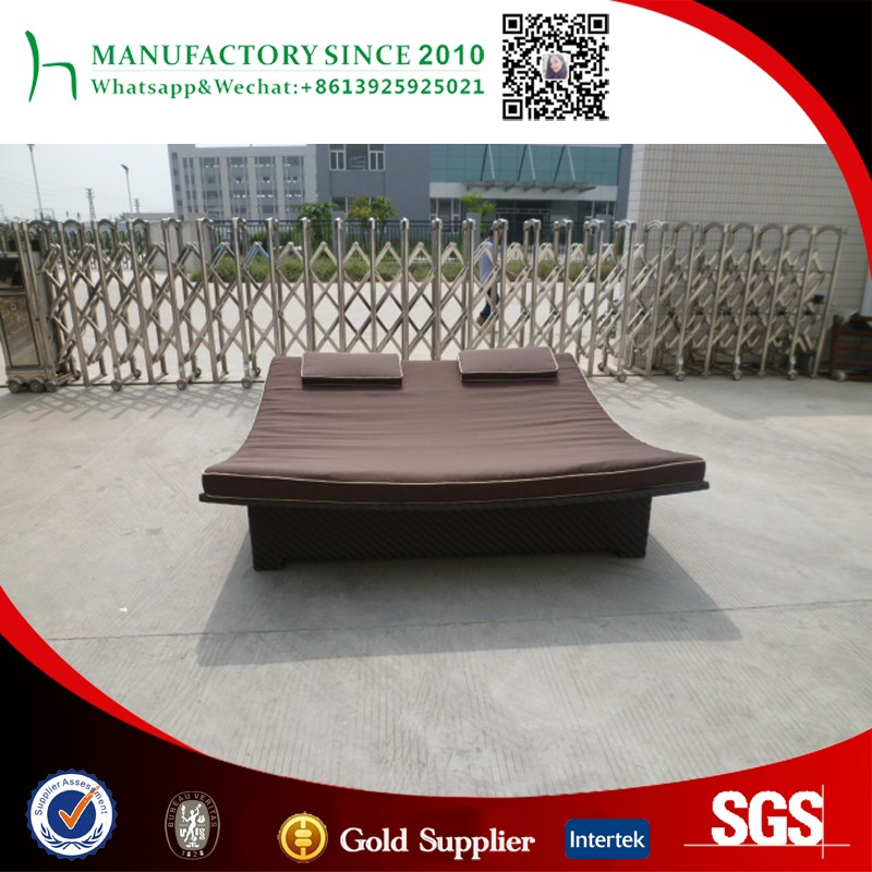 Outdoor furniture double sun lounger with canopy