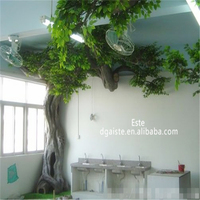 antique artificial banyan tree for hall decoration fiberglass trunk