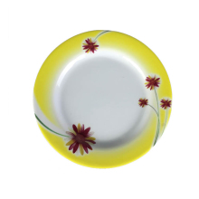 BPA free customized <strong>flat</strong> standard shaped melamine durable plastic plates