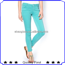 Fashion lady skinny jean with branding quality SHK173 fashion jean