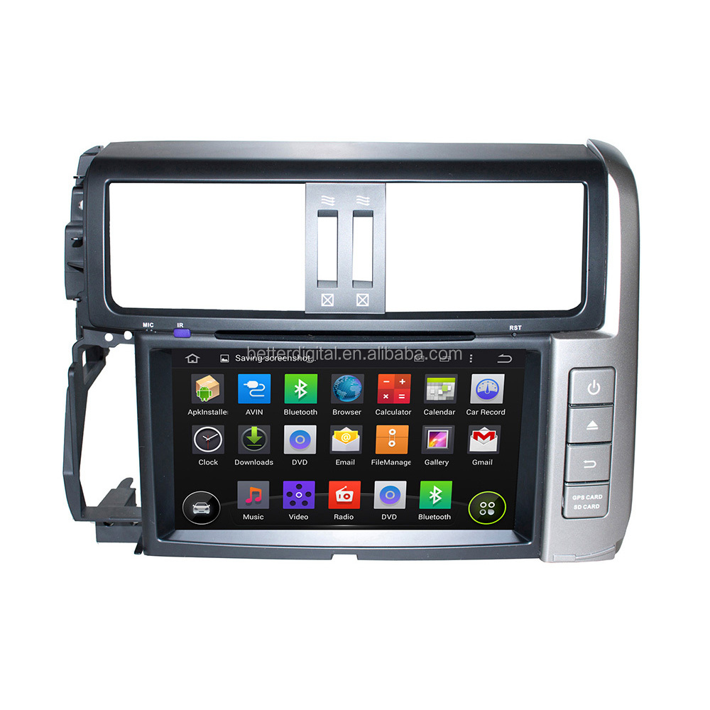 For Toyota prado android car dvd with WIFI 3G MIRROR LINK QUAD-CORE 16GB MEMORY