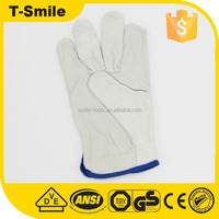 Industrial leather hand gloves Cow work gloves