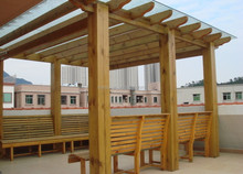 garden pergola polycarbonate hollow sheet 6mm bronze