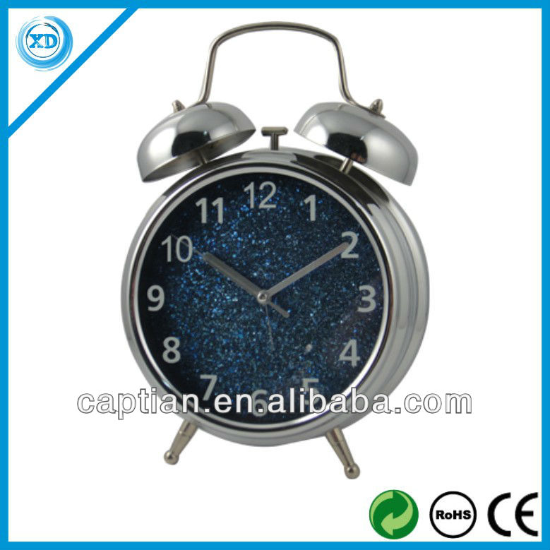 Nice Twin bell Metal Decorative Alarm Clock for promotion gift