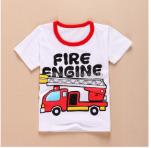 100% cotton fashion boys tshirt new design children's t shirt wholesale