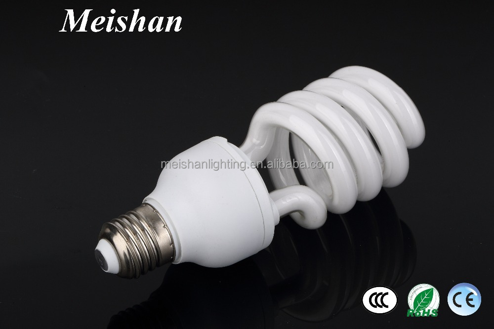 Middle half spiral cfl lamp tube 12mm 30w half spiral cfl