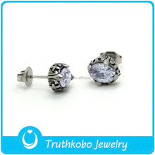 TKB-E0082 Silver Jewellery uk Allergy Free Rhinestone Inlay Paw Print Stud Earrings