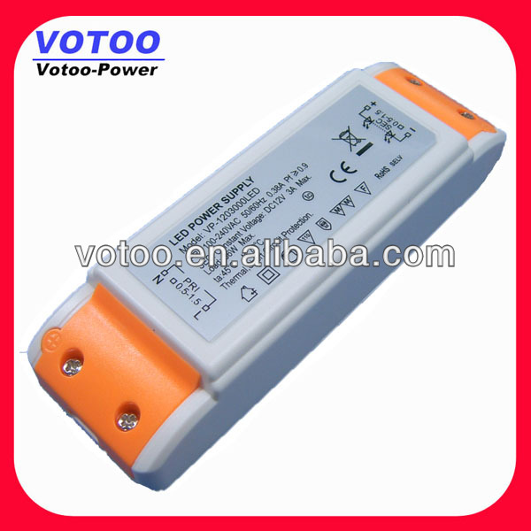 Skillful Manufacture Constant Volt 24 to 36 W LED Lighting Driver