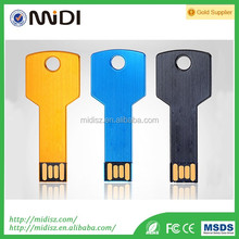 Made in China metal key USB Pendrives in low price of 16GB 32GB usb flash drive 2017