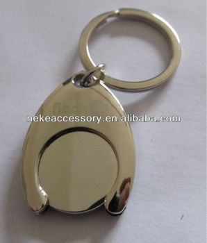 Hot Sell Customized Metal Coin Holder Keychain