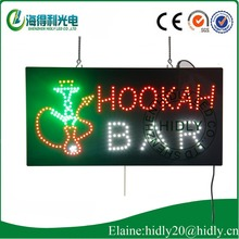 Hidly new design for HOOKAH BAR store business time usage led open <strong>sign</strong>
