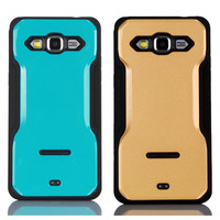 C&T Dual Layer Kickstand Shockproof Flexible soft gel tpu phone cover for samsung galaxy j7