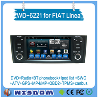 Android 2 din car gps dvd player with reversing camera for Fiat old Linea/punto car dvd gps navigation with car radio wifi 3g