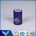 Good quality pure blue top-opening cap for wine cap with printing at the top