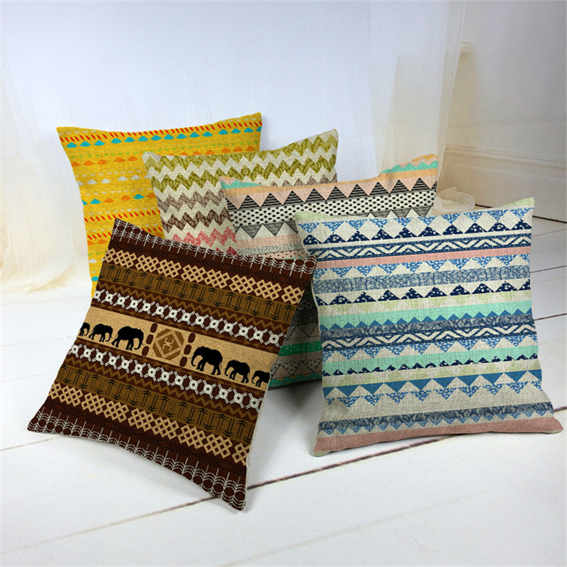 Cheap Price Cotton Wave Shading Almofadas Fundas 45Cmx45Cm Square Houseware Decor custom printing cushion covers