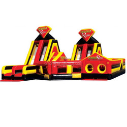 Double Rush Commercial grade PVC Inflatable Obstacle Course for kids