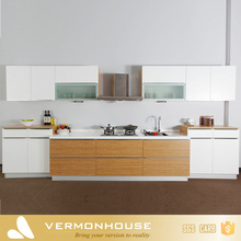 Vermont Modern White Yellow Modular Kitchen Cabinet Color Combinations