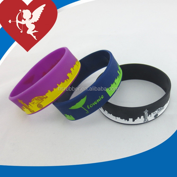 High quality manufacturer silicone thin rubber bracelets