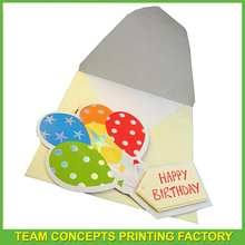 Hot sale sample birthday invitation card with envelope