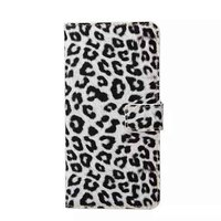 Leopard print pattern leather flip case for samsung galaxy note 5 edge wallet case cover