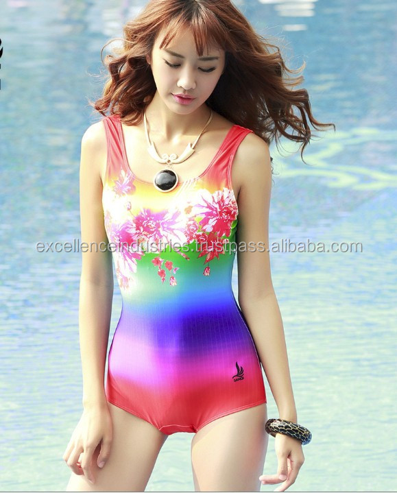 new designs One-Piece Swimsuit with tie dye sublimation printing Style,Cheap Beachwear custom made for girls and ladies