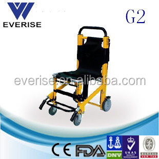 WSX-G2 aluminium alloy wheelchair folding stretcher ,stair climbing wheelchair
