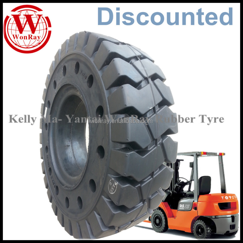 high quality with holes 6.00-9 forklift solid tyres rim 4.00 with discounted prices